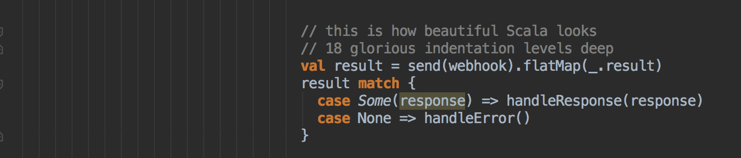 Glorious Scala code
